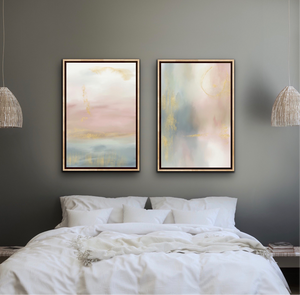 Set of 2 Art Prints - Blush & Sage