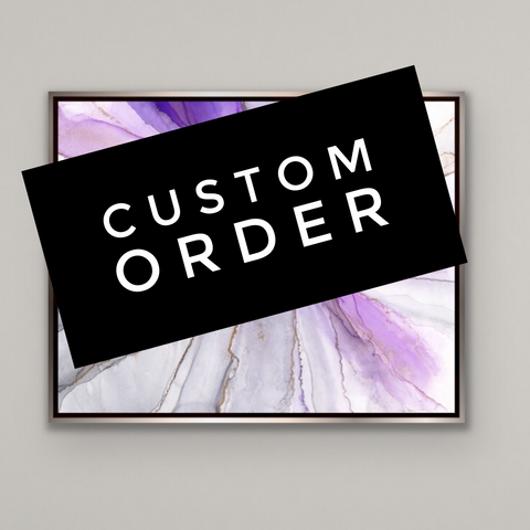 "Custom Order Convergence ""Iris"" canvas in floater frame"