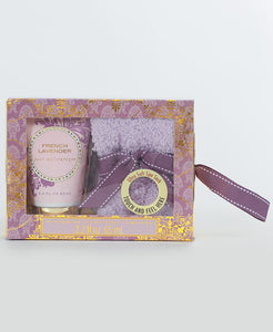 Sock & Lotion Gift Box Set - French Lavender