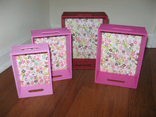 Pink Nesting Boxes (Set of 4 )