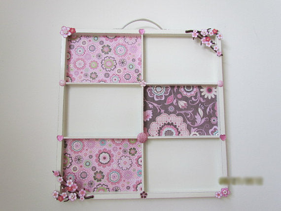Pink Cherry Blossom Photo Collage Tray