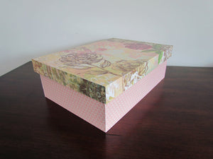 Pink Floral Covered Box