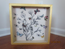 Cream & Gold Tray with Butterflies