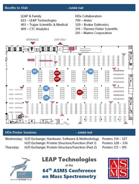 LEAP at ASMS Exhibit Map