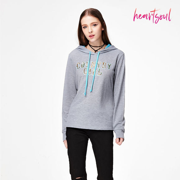 HeartSoul Women Hoodies Sweatshirts Long Sleeve High Neck Pocket Pullover Coats