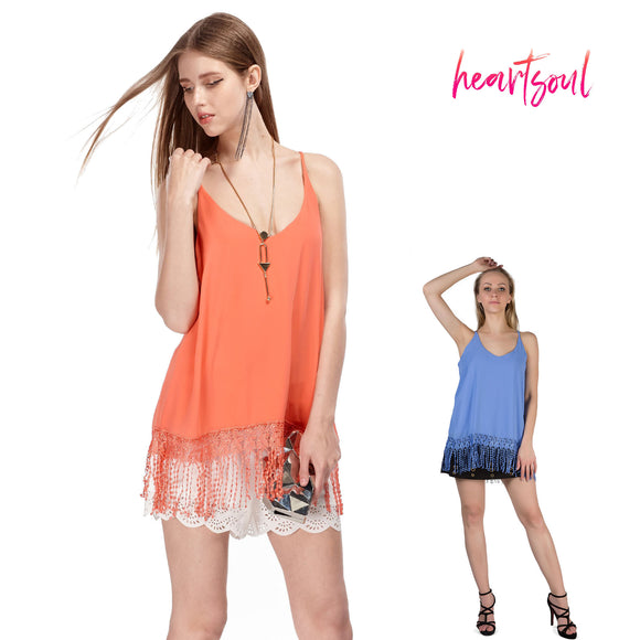Heart Soul Women's Sleeveless Spaghetti Strap Tank Tops