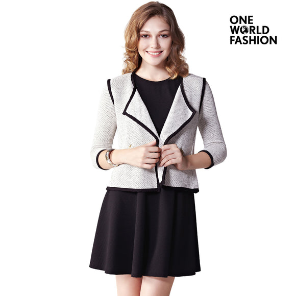 OneWorld Casual Work Office Business Blue Attire Blazers and Jackets for Ladies and Women