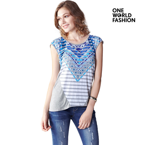 OneWorld Ladies and Women Short Sleeve Tunic Top T-Shirt