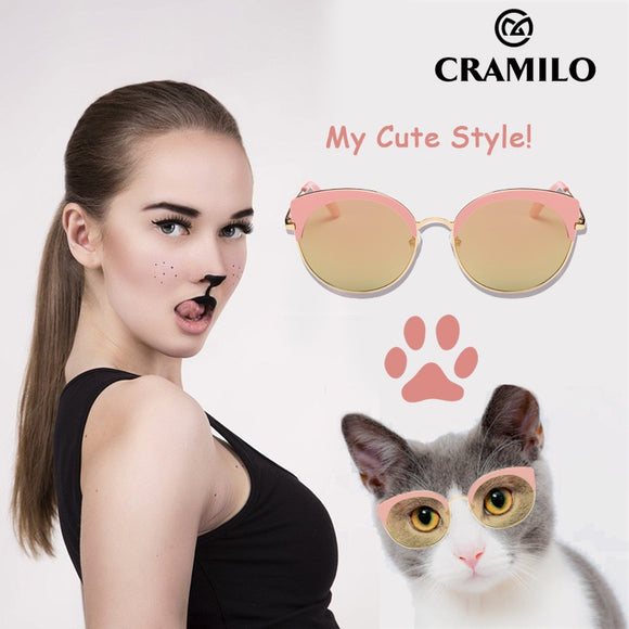 Fashion New Cat Eye Sunglasses Women Designer Glasses with UV400 Protection