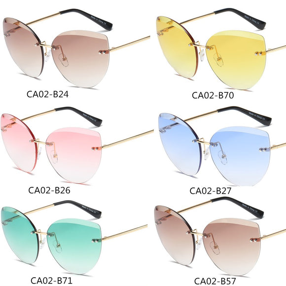 6 Colors Fashion New Cat Eye Sunglasses Women Designer Glasses with Protection