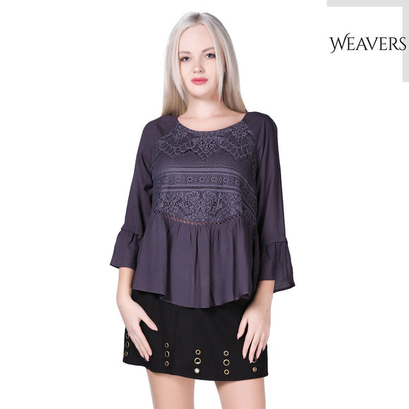 WEAVERS Casual Loose Ethnic Blouse Women Summer Comfy Bohemian Cotton Shirts Female Blouse