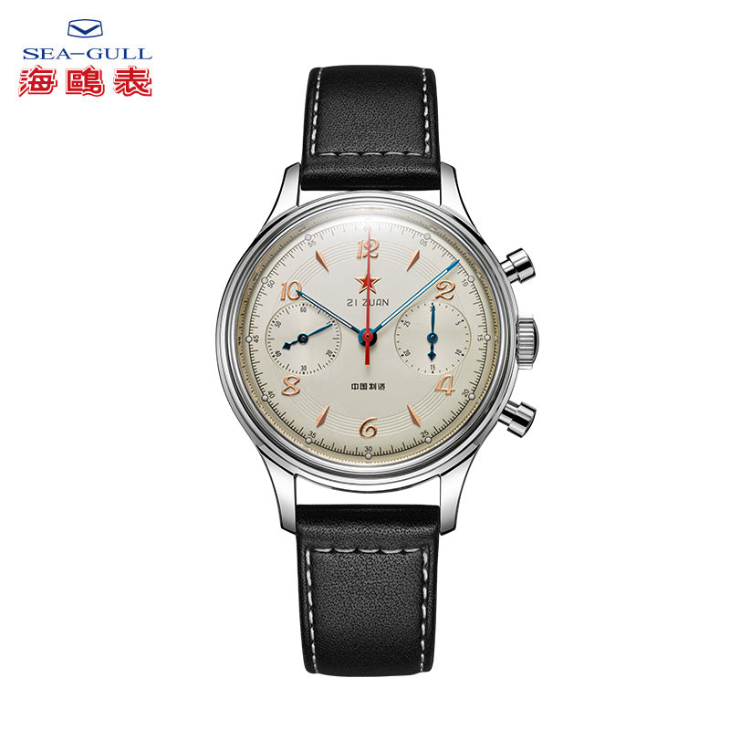 Seagull 1962 Chronograph Watch 38mm Re-issued Edition D304 PLANB Luminous Hand Wind Mechanical total 650pcs Acrylic