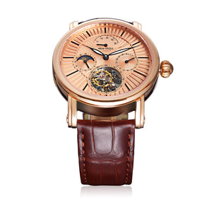 Seagull Tourbillon Mechanical Watch Power Reserve Day Night Indicator Manual Wind Men's Watch 518.6806 with certification paper