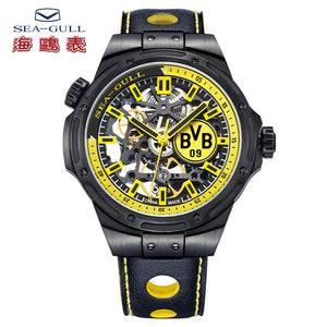Seagull Borussia Dortmund globle limited edition self winding mechanical men's watch skeleton dial 819.92.5131H total 2588pcs