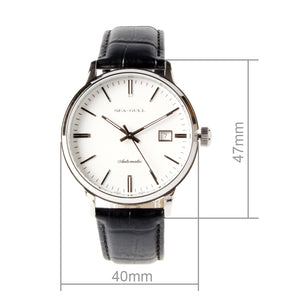 Seagull 41mm Couple Watch Men Self Wind Automatic Men's Mechanical Watch D101