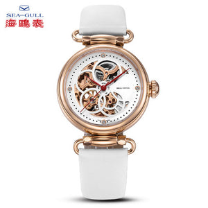 Seagull secret of RHEA series see-through mechanical watch 38mm sapphire crystal