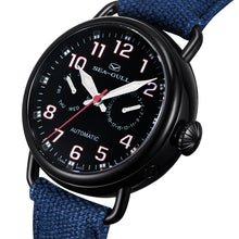 Load image into Gallery viewer, Seagull Military Watch Black PVD Case Auto Date Week Display Mechanical Watch 811.23.5026H