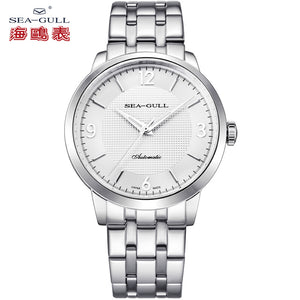 Seagull Stainless Steel Bracelet 41mm Dial 3 Hands Automatic Watch Authentic Sea-gull Watch 5107