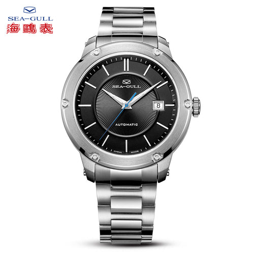 Seagull Fashion Casual Auto Date 5ATM Exhibition Back ST2130 Movement Automatic Men's Watch 816.12.1021