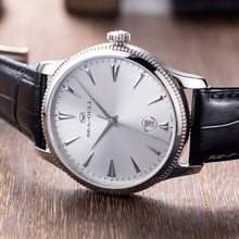 Load image into Gallery viewer, Seagull Ultra Thin 9mm Seagull Coin Edge Case Exhibition Back Self-winding ST18 Movement Date Automatic Men's Dress Watch 819.12.1003