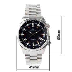 Seagull Dual Time Zone GMT 42mm Wristwatch 816.582 Luminous Mechanical Self Wind Automatic Men's Watch ST2130 Movement