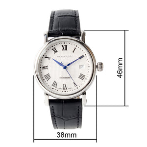 Seagull roman numeral self wind automatic mechanical men's watch 819.368 sapphire crystal