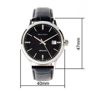 Seagull 41mm Couple Watch Self Wind Automatic Men's Mechanical Watch D101