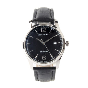 Seagull Dress Leather Strap Business Men Wristwatch Simple Design Self Wind Automatic Men's Mechanical Watch D819.438