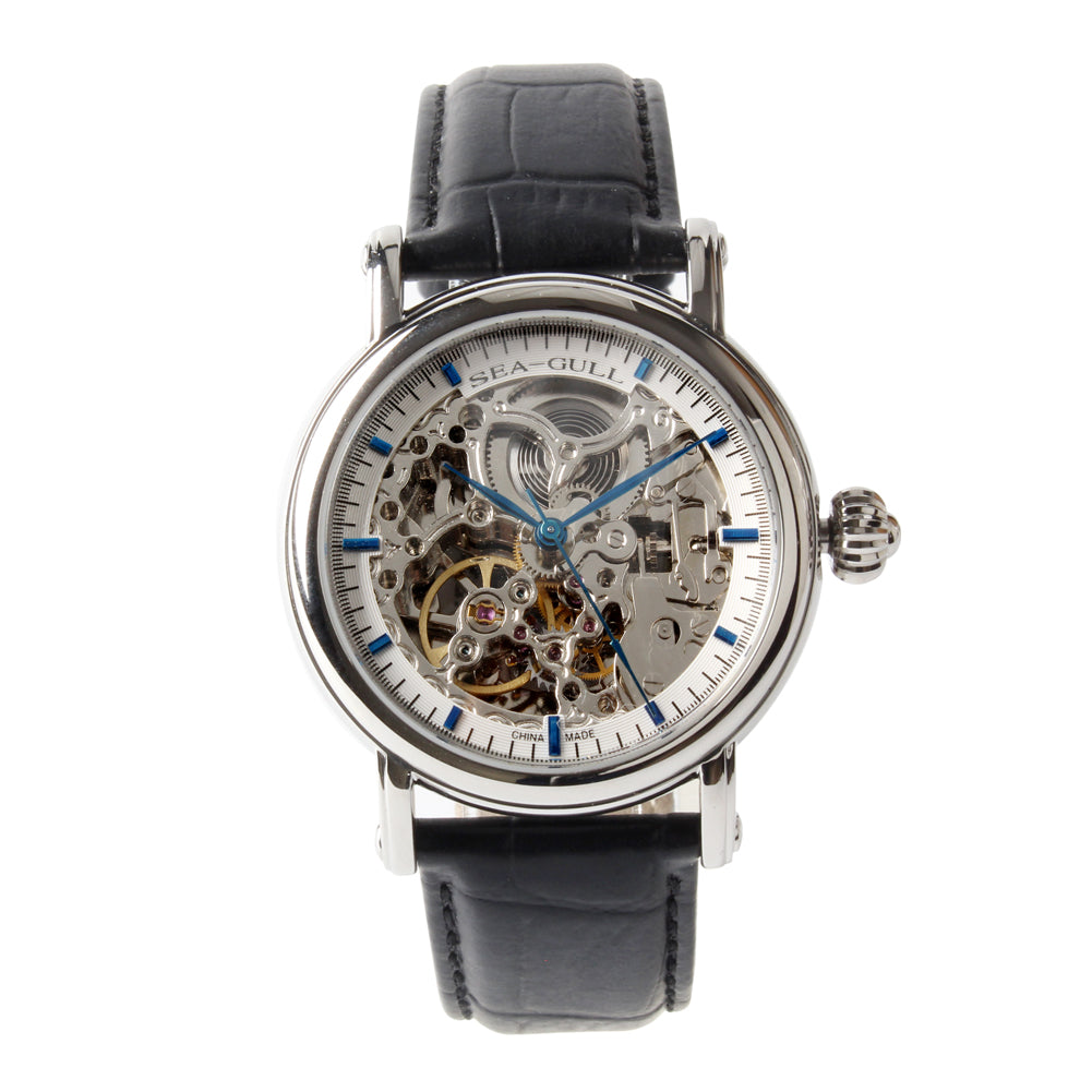 Seagull Skeleton See-Through Window Self Wind Automatic Watch M182SK
