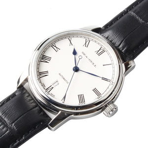 Seagull Roman Numerals ST2130 Watches Exhibition Back Self Wind Automatic Men's Mechanical Watch D819.459