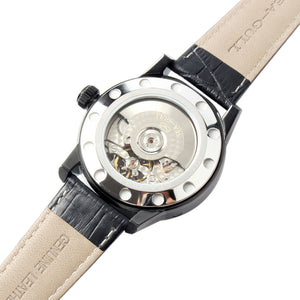 Seagull retro auto date power reserve display automatic watch self wind mechanical 219.327 sapphire crystal leather strap