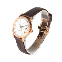 Load image into Gallery viewer, Seagull Rhinestone Bezel MOP Satin Finished Strap Auto Date Onion Crown Gold Plated Self Wind Automatic Women's Watch 719.387