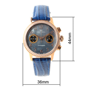 Seagull Rhinestone Bezel Wristwatch Chronograph watch Exhibition MOP Luxury Hand Wind Mechanical Women's Watch 719.754L