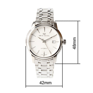 Seagull Business Designer Series Mechanical Watches Luminous Stainless Steel Bracelet Self Wind Automatic Men's Watch 816.421