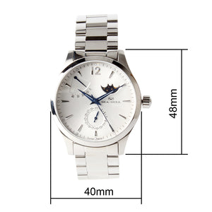 Seagull Moon Phase Auto Date Power Reserve Retro Men Watches Exhibition Back Self Wind Automatic Men's Mechanical Watch 816.423