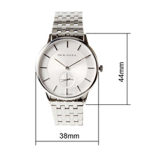 Load image into Gallery viewer, Seagull Ultra Thin 8mm Bauhaus Style Small Second Solid Case Back Sea-Gull Hand Wind Mechanical Men's Watch 816.388