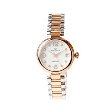 Load image into Gallery viewer, Seagull Gold Tone Rhinestones Bezel MOP Dial Two Tone Bracelet Women Self Wind Automatic Mechanical Fashion Watch 517.756L