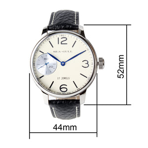 Seagull hand wind st36 movement 44mm mechanical watch 819. 97. 5000