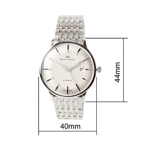 Seagull 10mm Bauhaus Style Dress Wristwatch Self Wind 40mm Automatic Watch 816.519