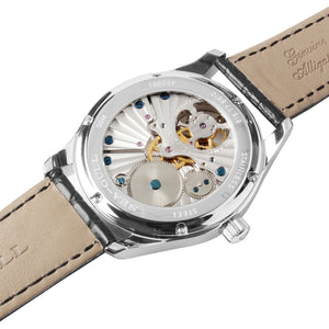 Seagull tourbillon watch mechanical manual wind alligator leather strap sapphire crystal 818.17.8810