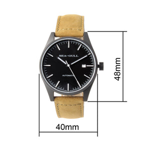 Seagull Vintage Military Wristwatch PVD Case Back 40mm Classic Luminous Hands Self Wind Automatic Watch 819.22.5121H