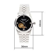 Load image into Gallery viewer, Seagull PVD Coated Skeleton Watches Exhibition Back Self Wind Automatic Mechanical Watch M149SK