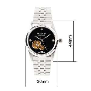 Seagull PVD Coated Skeleton Watches Exhibition Back Self Wind Automatic Mechanical Watch M149SK