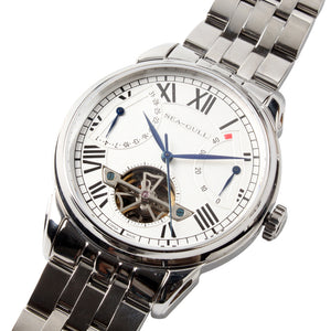 Seagull flywheel watch auto date power reserve 40HS automatic 816.522 sapphire crystal