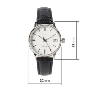 Seagull couple watches automatic self winding white dial watch D101+D101L ST2130 movement