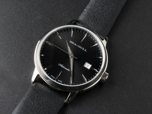 Seagull ST2130 Movement Automatic Self Wind Dress Wristwatch 819.22.5027 Mechanical Men's Watch Sapphire Crystal Leather Strap