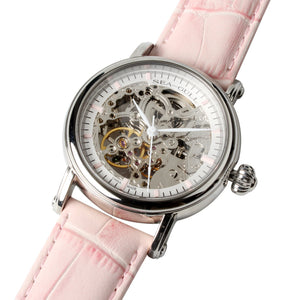Seagull Skeleton See-Through Window Exhibition Back 38.5mm Watches white Hands Onion Crown Self Wind Automatic Watch M182SK