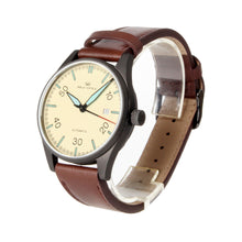 Load image into Gallery viewer, Seagull Classic Vintage Design Leather Strap Men Watches Luminous Hands Self Wind Automatic Men's Mehanical Watch 819.583H