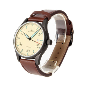 Seagull Classic Vintage Design Leather Strap Men Watches Luminous Hands Self Wind Automatic Men's Mehanical Watch 819.583H