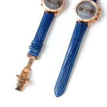 Load image into Gallery viewer, Seagull Rhinestone Bezel Wristwatch Chronograph watch Exhibition MOP Luxury Hand Wind Mechanical Women's Watch 719.754L